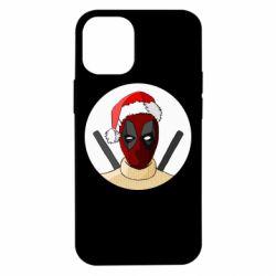 Чехол для iPhone 12 mini Deadpool in New Year's hat