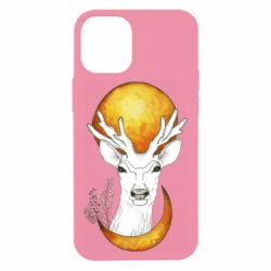 Чехол для iPhone 12 mini Deer and moon
