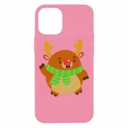 Чехол для iPhone 12 mini Deer in a scarf