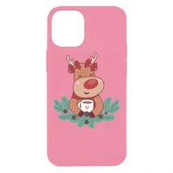 Чехол для iPhone 12 mini Deer tea party girl