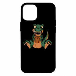 Чехол для iPhone 12 mini Dinosaur and basketball