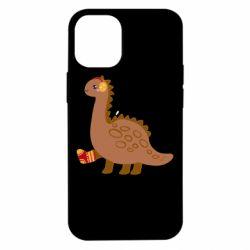 Чехол для iPhone 12 mini Dinosaur in sock