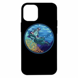 Чехол для iPhone 12 mini Diving and the underwater world