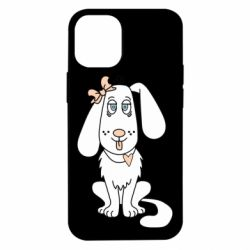Чехол для iPhone 12 mini Dog with a bow