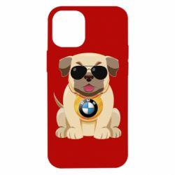 Чохол для iPhone 12 mini Dog with a collar BMW
