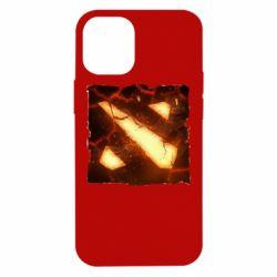 Чехол для iPhone 12 mini Dota 2 Fire Logo