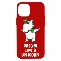 Чехол для iPhone 12 mini Dream like a unicorn