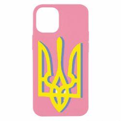 Чехол для iPhone 12 mini Двокольоровий герб України