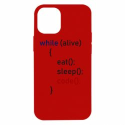 Чохол для iPhone 12 mini Eat, Sleep, Code