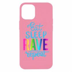 Чохол для iPhone 12 mini Eat, sleep, RAVE, repeat