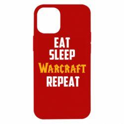 Чехол для iPhone 12 mini Eat sleep Warcraft repeat
