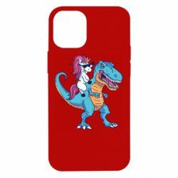 Чохол для iPhone 12 mini Єдиноріг і динозавр