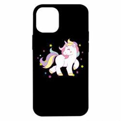 Чехол для iPhone 12 mini Единорог в звёздах