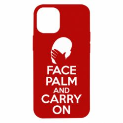 Чехол для iPhone 12 mini Face palm and carry on