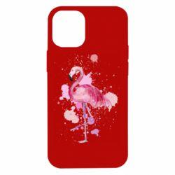Чехол для iPhone 12 mini Flamingo pink and spray