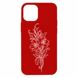 Чехол для iPhone 12 mini Flower contour