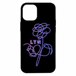 Чехол для iPhone 12 mini Flowers line bts