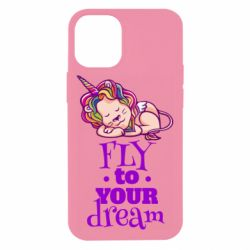 Чохол для iPhone 12 mini Fly to your dream and lion