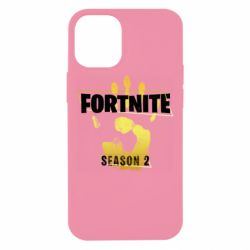 Чехол для iPhone 12 mini Fortnite season 2 gold