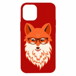 Чехол для iPhone 12 mini Fox with a mole in the form of a heart