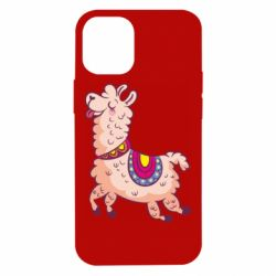 Чехол для iPhone 12 mini Funny llama