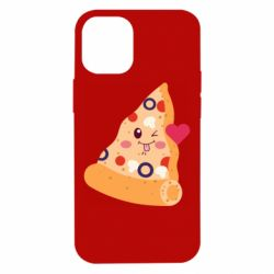 Чехол для iPhone 12 mini Funny pizza