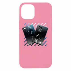 Чехол для iPhone 12 mini Gambling Cards The Witcher and Cyrilla