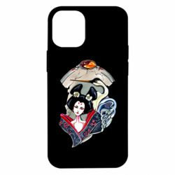 Чехол для iPhone 12 mini Geisha and crane