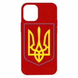 Чехол для iPhone 12 mini Герб України з рамкою