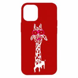 Чохол для iPhone 12 mini Giraffe in pink glasses