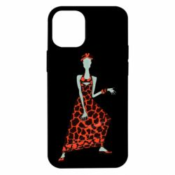 Чехол для iPhone 12 mini Girl in a dress without a face