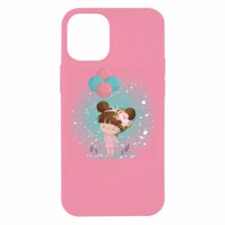 Чехол для iPhone 12 mini Girl with balloons