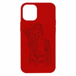 Чехол для iPhone 12 mini Girl with dreadlocks