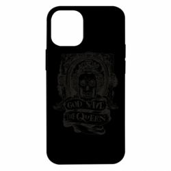 Чехол для iPhone 12 mini God save the queen monochrome