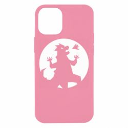 Чехол для iPhone 12 mini Godzilla and moon