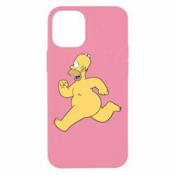 Чехол для iPhone 12 mini Голый Гомер Симпсон