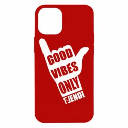 Чехол для iPhone 12 mini Good vibes only Fendi