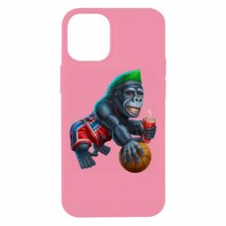 Чехол для iPhone 12 mini Gorilla and basketball ball
