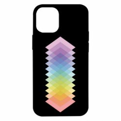 Чохол для iPhone 12 mini Gradient color transition rhombus