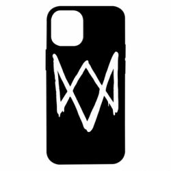 Чехол для iPhone 12 mini Graffiti Watch Dogs logo