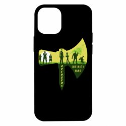 Чохол для iPhone 12 mini Guardians of the galaxy are depicted on the ax