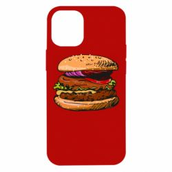 Чехол для iPhone 12 mini Hamburger hand drawn vector