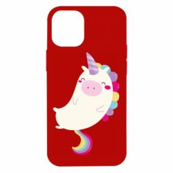 Чехол для iPhone 12 mini Happy color unicorn