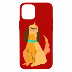 Чехол для iPhone 12 mini Happy dog with a smile