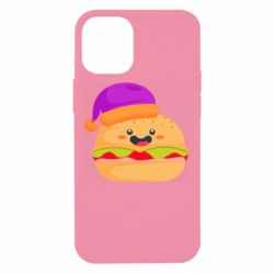 Чехол для iPhone 12 mini Happy hamburger