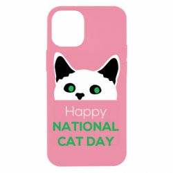 Чехол для iPhone 12 mini Happy National Cat Day