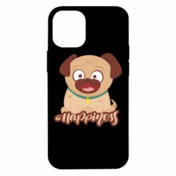 Чехол для iPhone 12 mini Happy pug