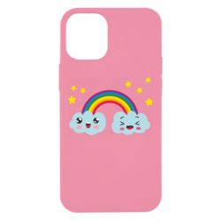 Чехол для iPhone 12 mini Happy rainbow