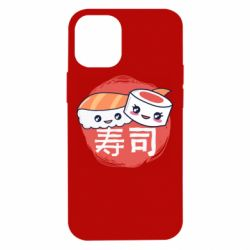 Чехол для iPhone 12 mini Happy sushi