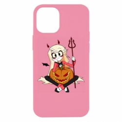Чехол для iPhone 12 mini Hazbin Hotel Charlie and pumpkin